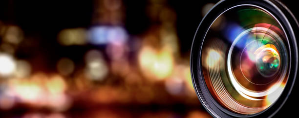 camera lens - camera photographic equipment stock photos and pictures