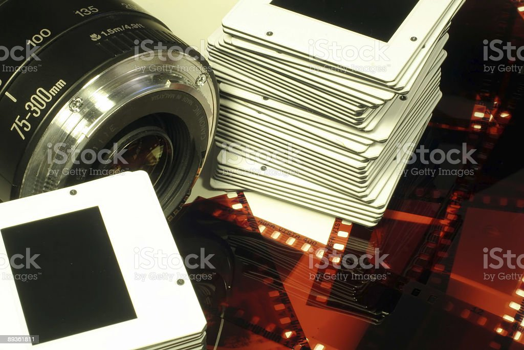 Camera Lens, Slides & Film Negatives royaltyfri bildbanksbilder