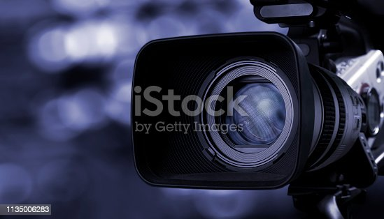 istock Camera lens with lense reflections. 1135006283