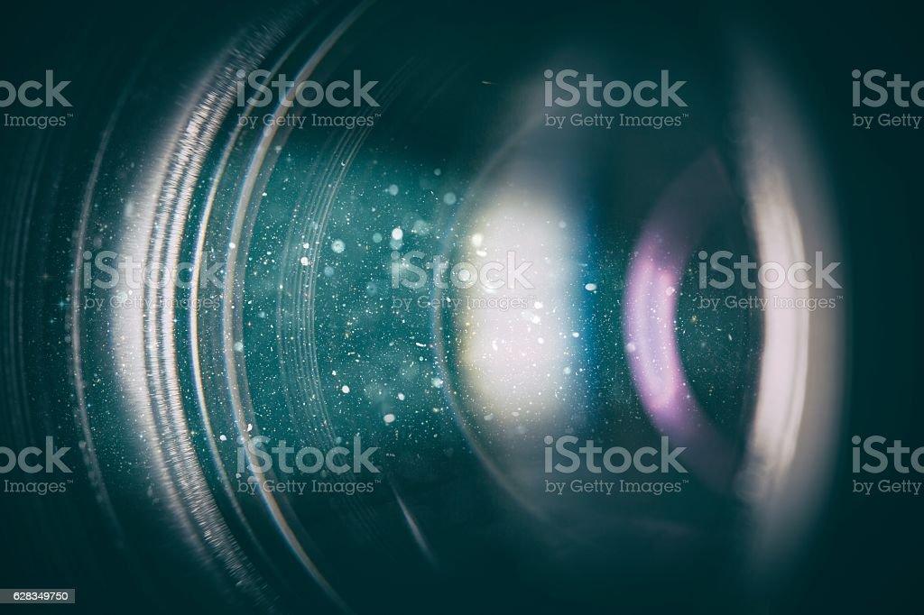 Kamera objektiv mit Glas Reflexionen. – Foto