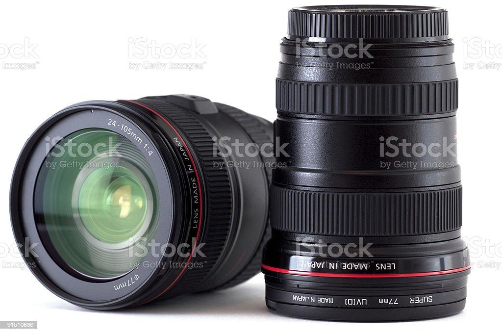 SLR Camera Lenses stock photo