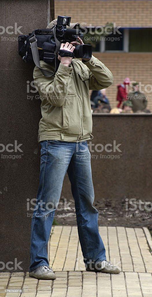 Camera man royalty-free stock photo