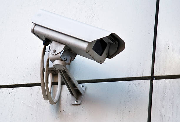 Camera of external supervision stock photo