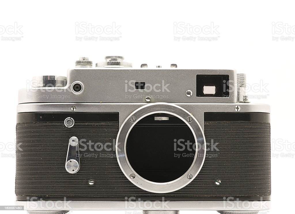 Camera on a white background royalty-free stock photo