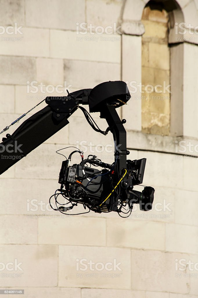 Camera on Boom stock photo