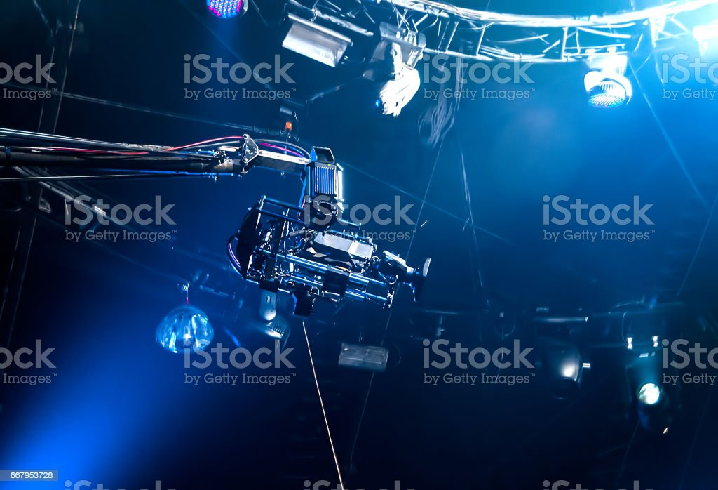 TV-Kamera auf Kran – Foto