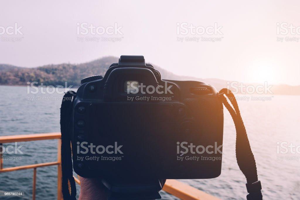 Camera op rivier - Royalty-free Afgelegen Stockfoto