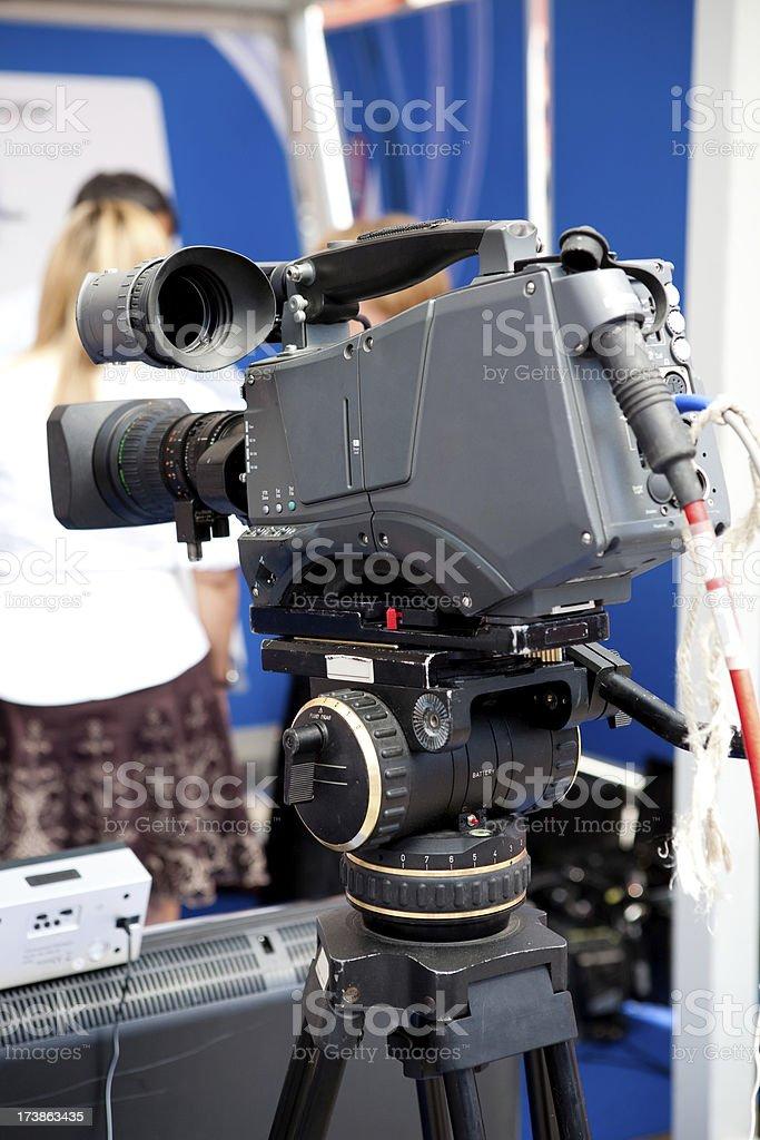 Camera on studio stock photo