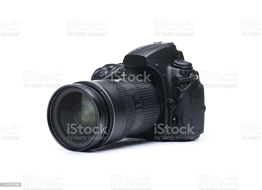 Dslr Camera On White Background Stock Photo Download Image Now Istock