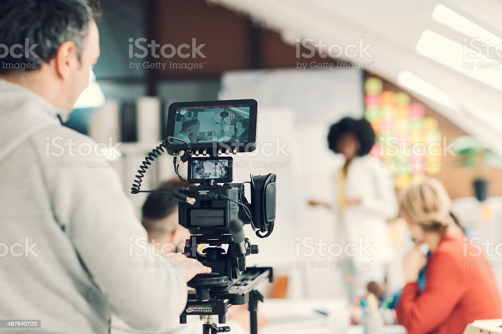 Camera Operator At Work. stock photo