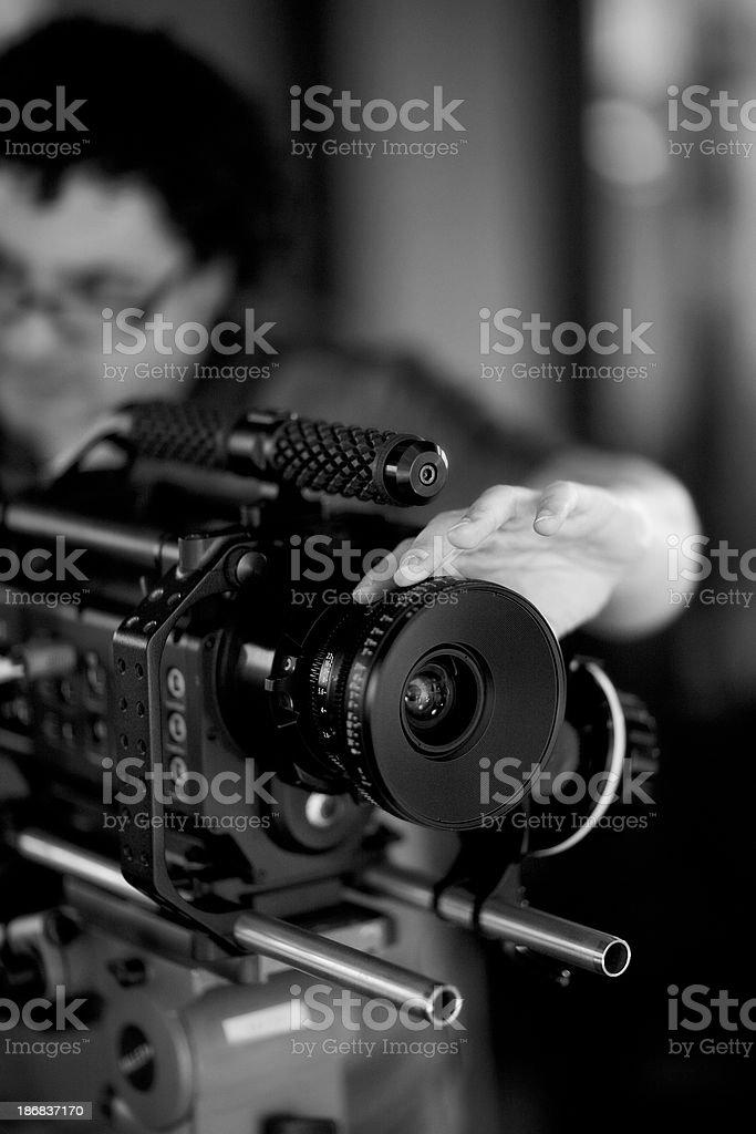 Camera Operatror stock photo