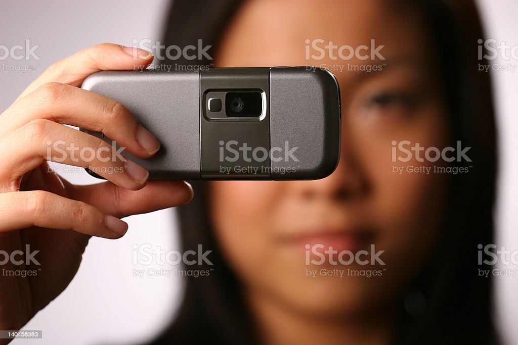 Camera phone royalty-free stock photo