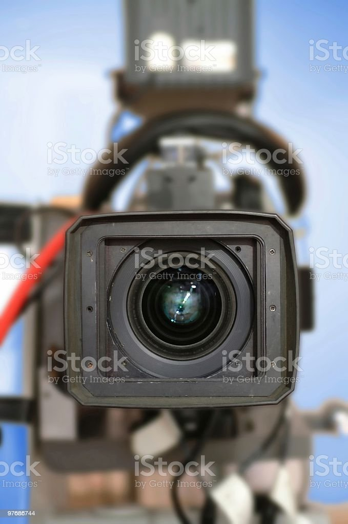 TV Camera royalty-free stock photo