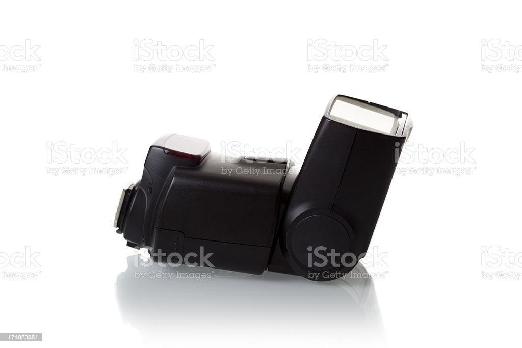 Camera portable flash light stock photo