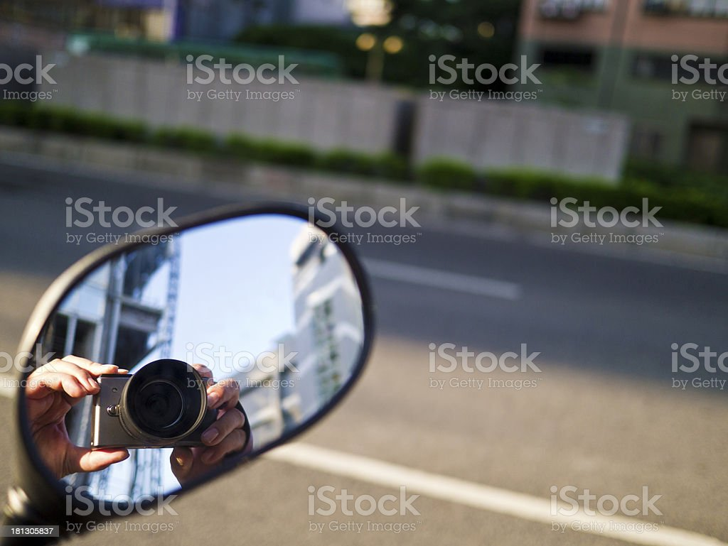 camera reflected in mirror royalty-free stock photo