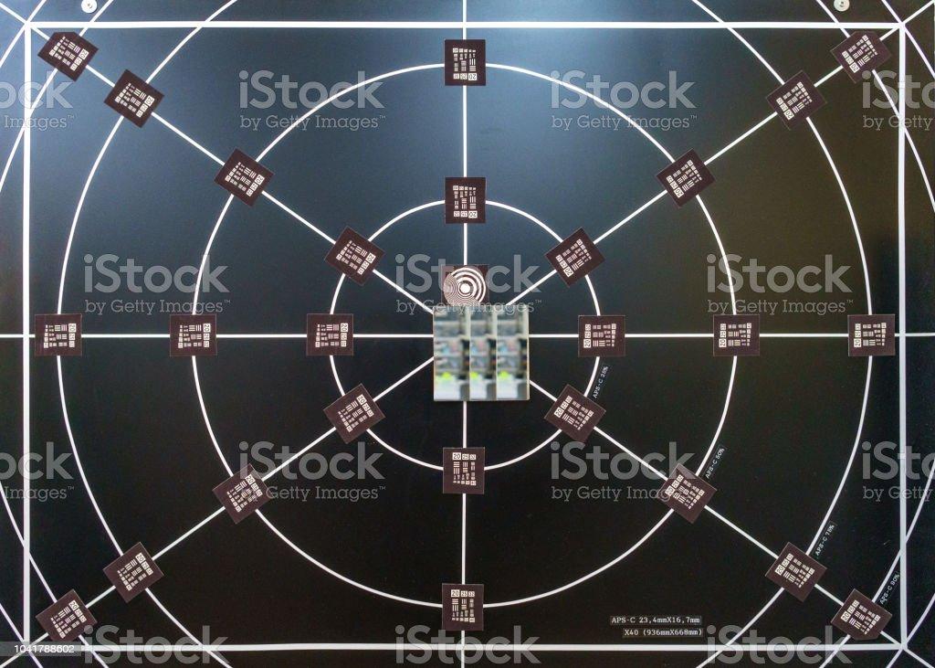 Camera resolution chart stock photo