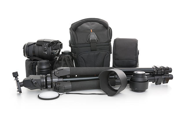 camera set - camera photographic equipment stock pictures, royalty-free photos & images