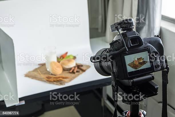 Camera shooting bread and glass of milk in indoor studio picture id540367774?b=1&k=6&m=540367774&s=612x612&h=fv7hjbl cg3z4caw3hrgwmvaigp3rwa8ee5bpfzwbem=