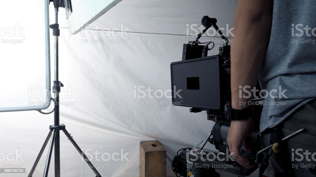 VDO camera shooting for commercial production stock photo