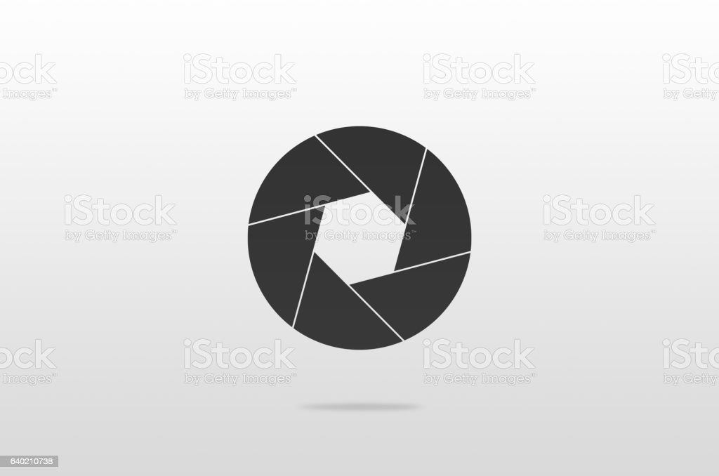 Camera shutter icon stock photo