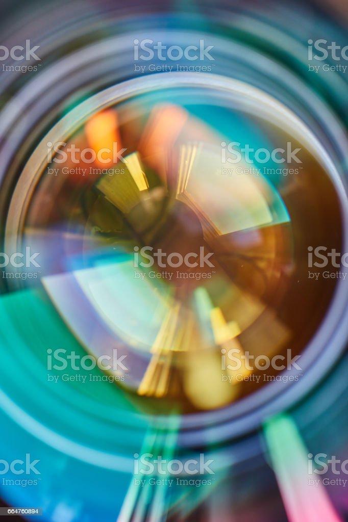 Camera shutter macro stock photo