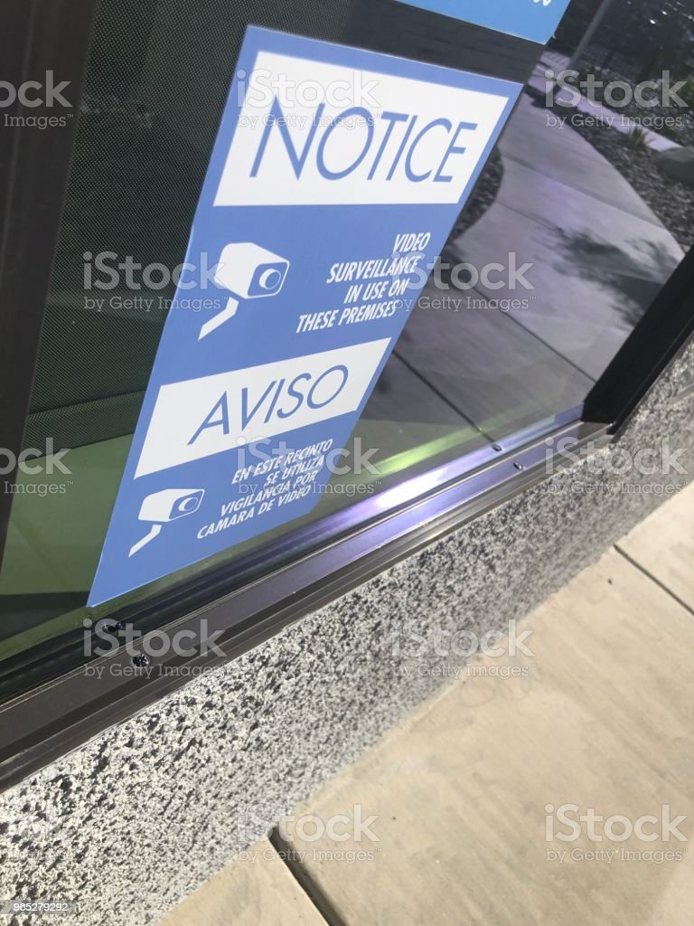 Camera sign on window royalty-free stock photo