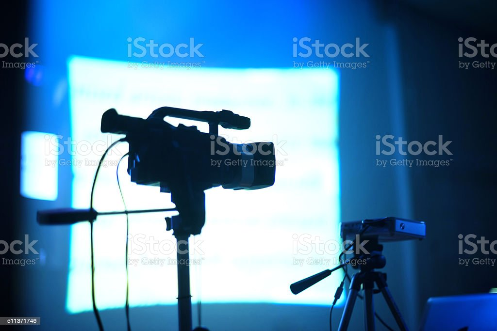 Camera Silhouette and screen stock photo
