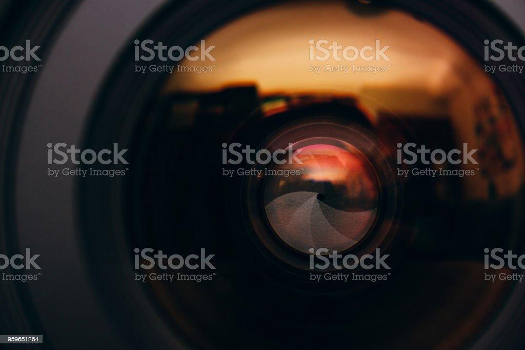 silueta, fotógrafo, cámara, lentes de - Foto de stock de Ancho libre de derechos