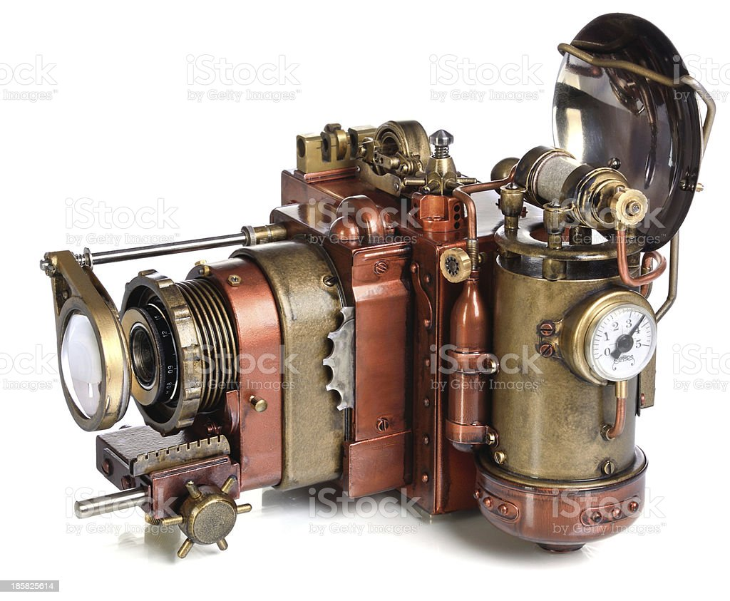 camera steampunk royalty-free stock photo