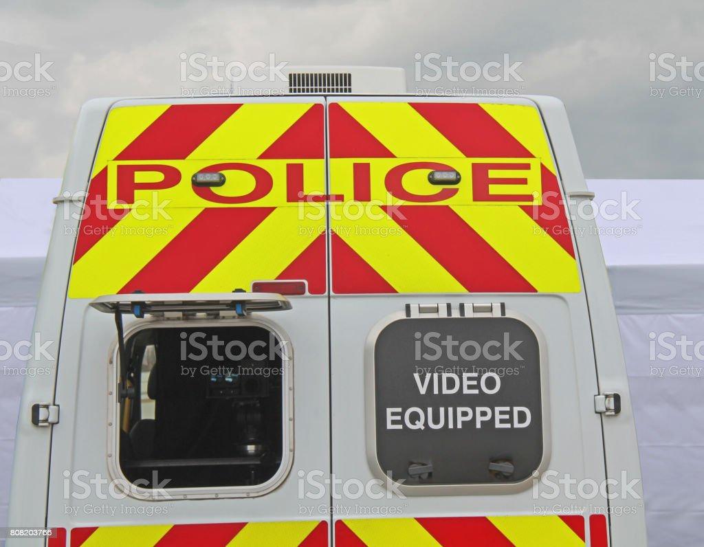 Camera Surveillance Vehicle. stock photo