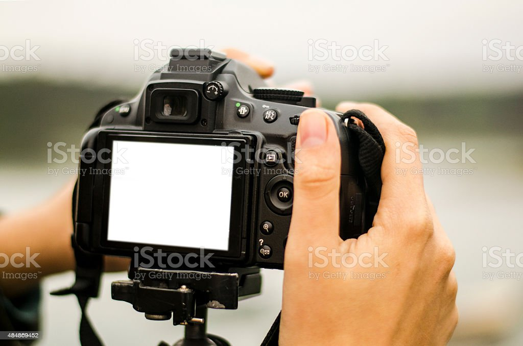 Camera with copy space stock photo