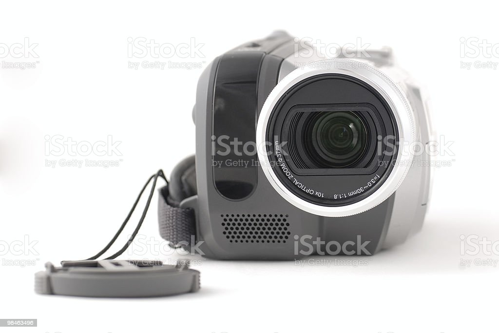 Camera with lens cap royalty-free stock photo