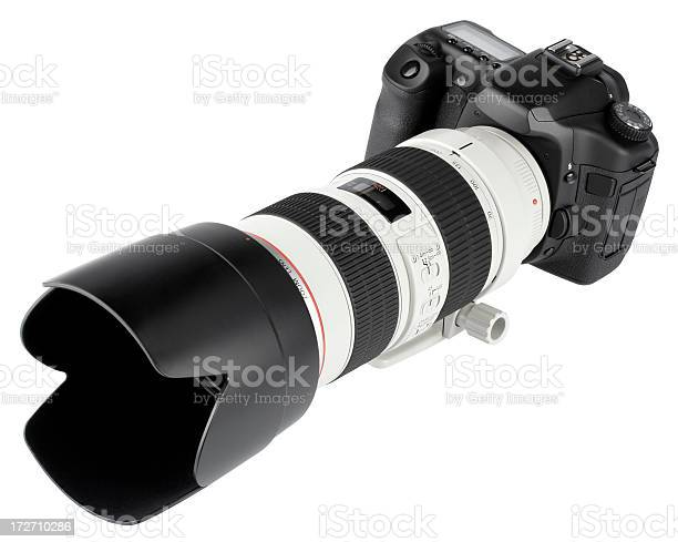 Dslr Camera With Telephoto Lens Stock Photo Download Image Now Istock