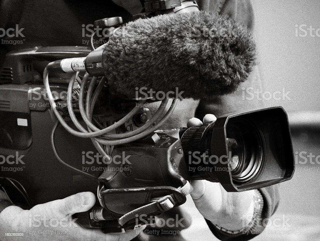 TV cameraman at work royalty-free stock photo