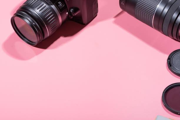 spiegelreflexkameras und zubehör - fotografische themen stock-fotos und bilder