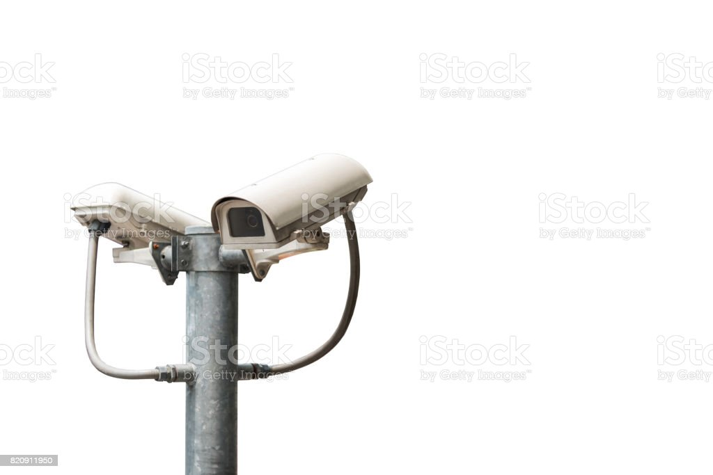 Cctv Cameras Are Installed Along The Streets Around Bangkok
