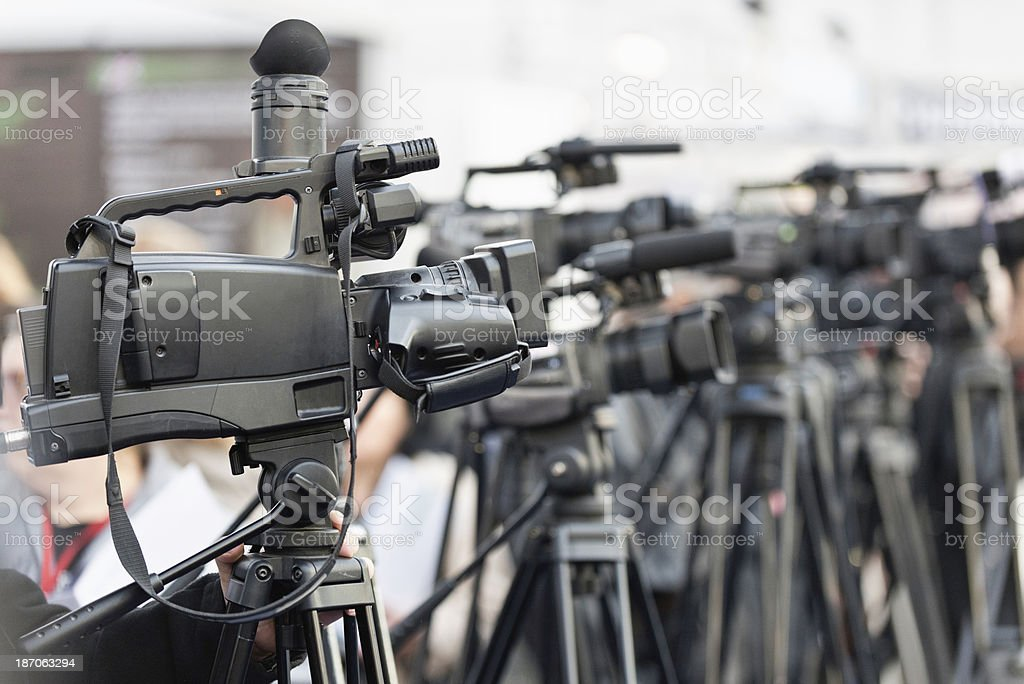 Cameras at publicity event royalty-free stock photo