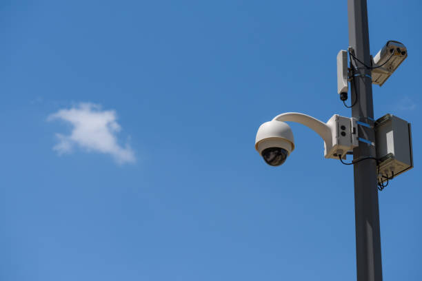 CCTV cameras mounted on the pole