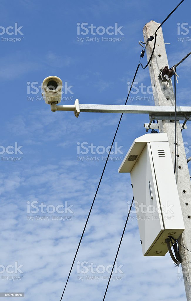 Cameras mounted stock photo