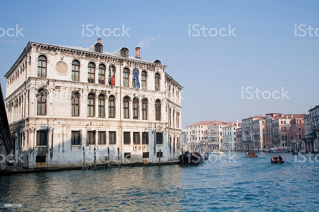 Palazzo Camerlenghi in Venice royalty-free stock photo
