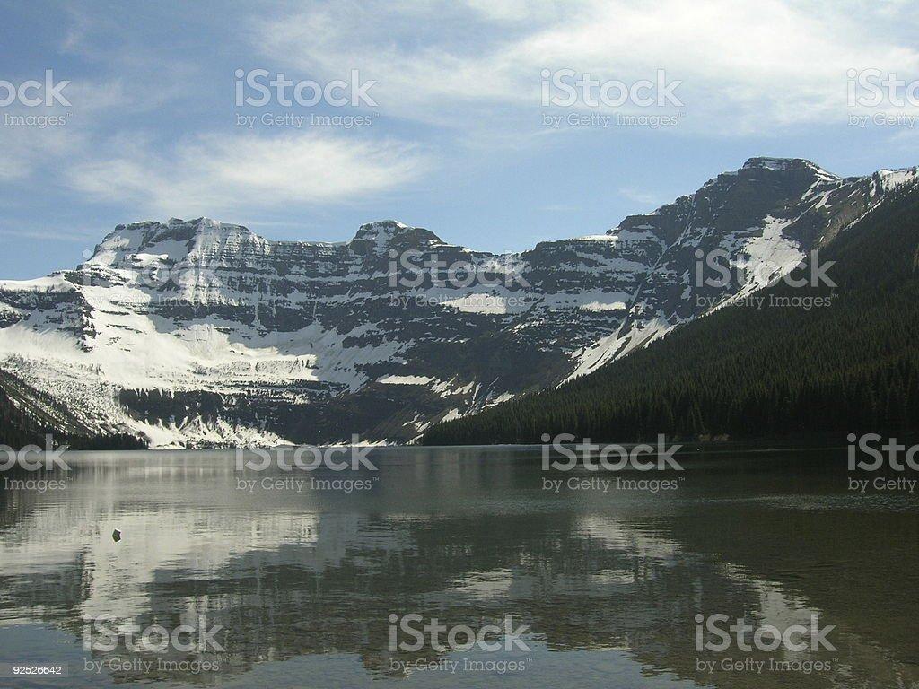 Cameron Lake - At End of the Road royalty-free stock photo