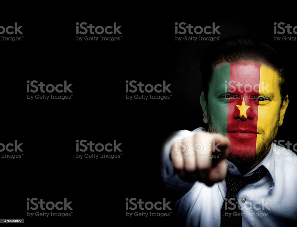Cameroon Sport Soccer Fan royalty-free stock photo