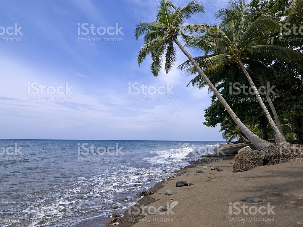 Camiguin Beach Scene royalty-free stock photo