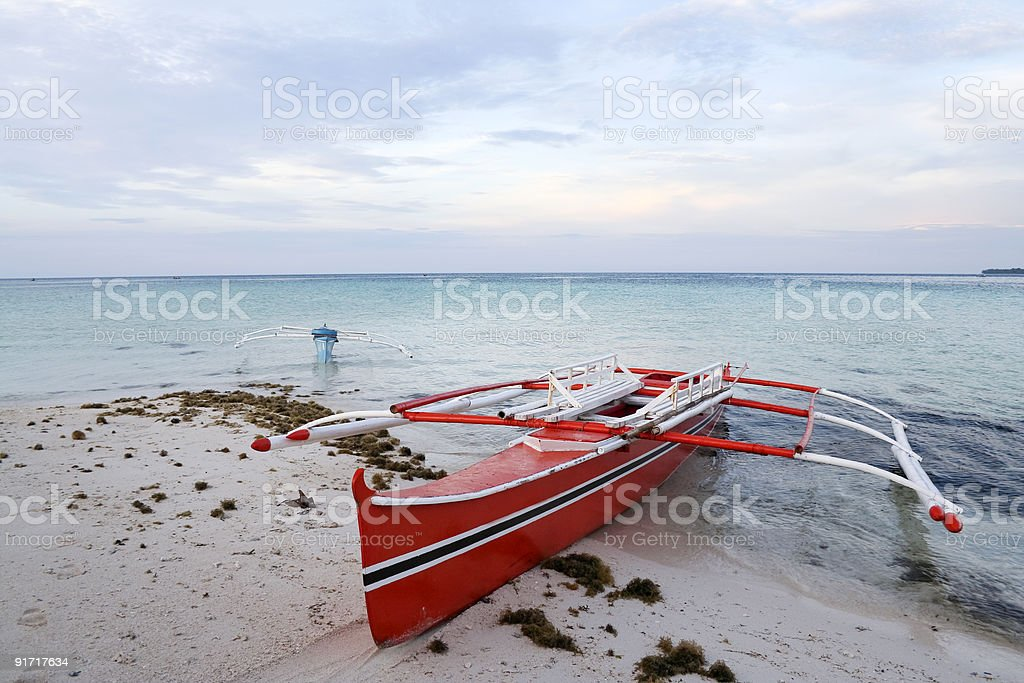 camiguin island outrigger fishing boats royalty-free stock photo