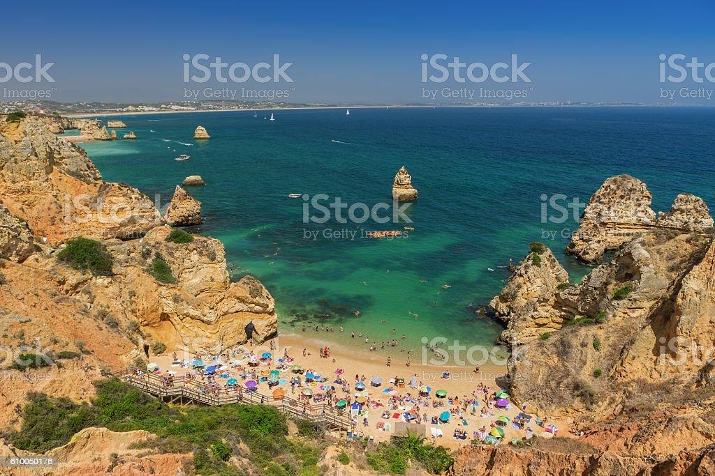 Camilo Beach, Lagos in the Algarve. - foto de acervo