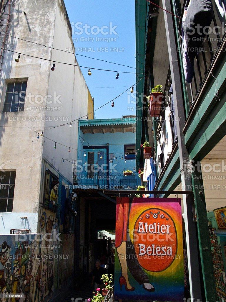 카미니토 건축양상, 라 보카 이웃이란 in Buenos Aires Argentina - foto de acervo