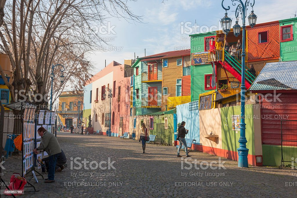 Caminito at La boca stock photo