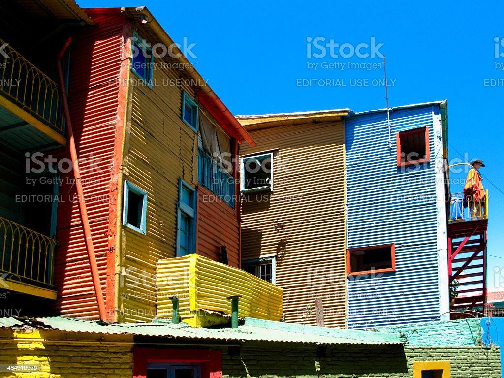 Caminito edifício no bairro La Boca em Buenos Aires, Argentina - foto de acervo