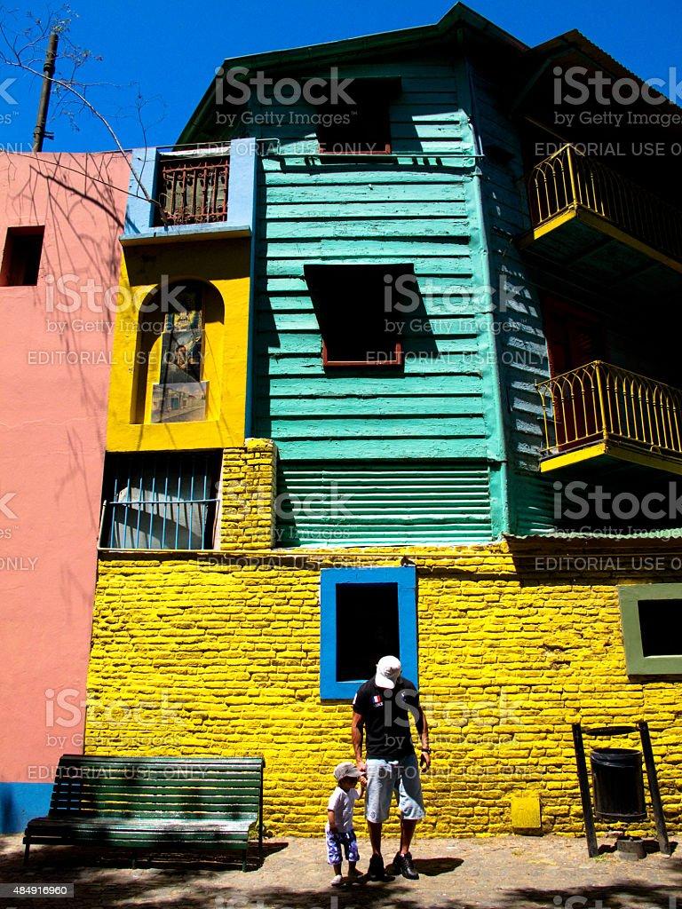 Caminito edifício no bairro La Boca em Buenos Aires, Argentina foto royalty-free