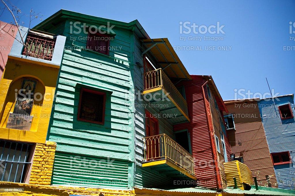Caminito casas no bairro La Boca em Buenos Aires, Argentina foto royalty-free
